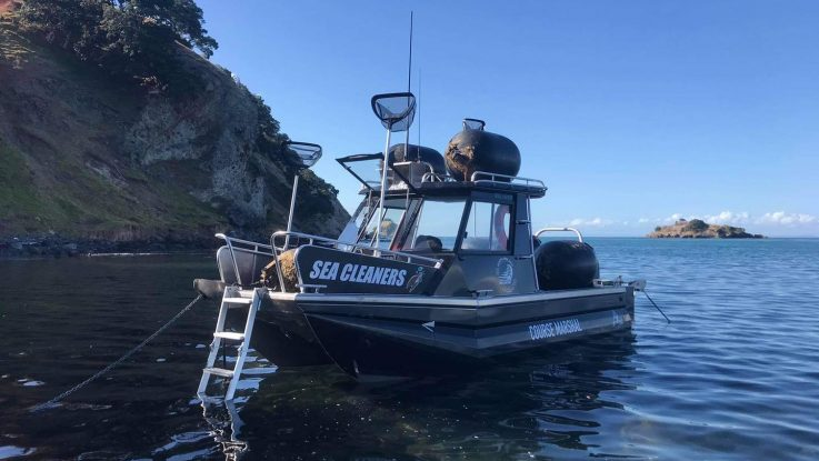 Mercury SeaPro engines power Sea Cleaners